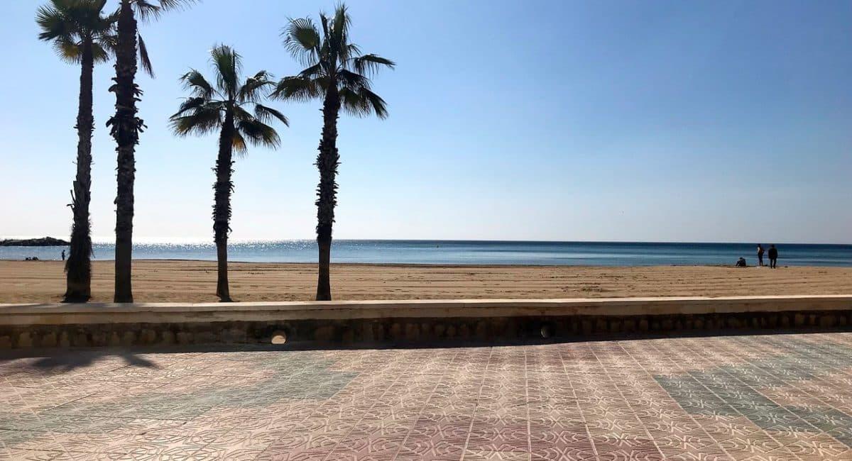 Arenal beach promenade Calpe